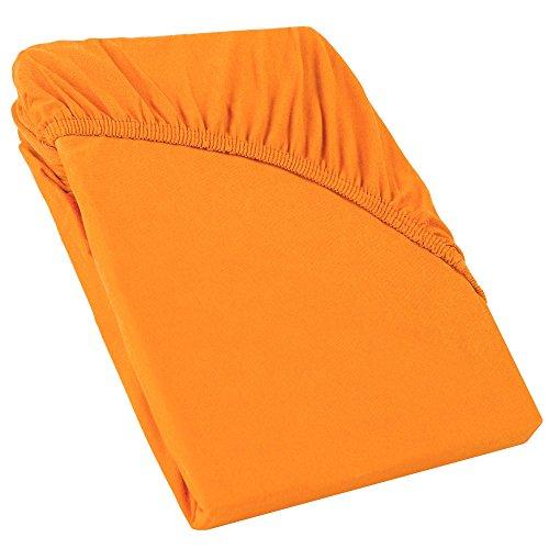 CelinaTex Perla boxspringbed waterbed topper hoeslaken 180x200-200x200 cm oranje katoen bedlakens hoeslaken 5001491