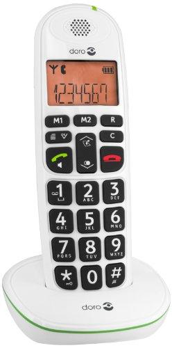 Doro PhoneEasy 100w DECT Schnurlostelefon Freisprechen weiß