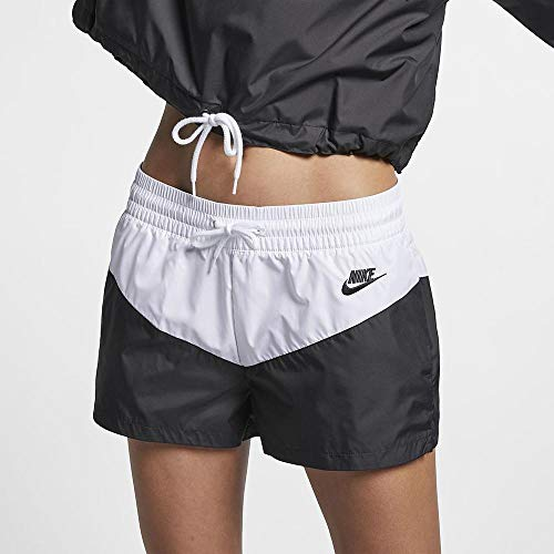 Nike Damen W NSW HRTG WVN Shorts, Black/White, XS