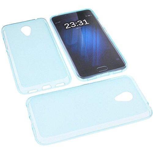 foto-kontor Funda para Meizu M3 M3s Funda Protectora de Goma TPU para móvil Azul