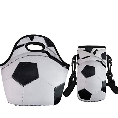 Coloranimal Sac à déjeuner léger avec étui pour bouteille d'eau - Sacs de football 3D