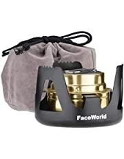 Faceworldアルコールストーブバーナー ごとく小型 コンパクト 携帯便利 軽量 アウトドア キャンプ 防災 登山 料理用 五徳付き 風防 燃料用アルコール