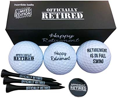 Golf Funny Gift Sets Funny Gag Novelty Present for Him for Golfers Offically Retired Pack product image