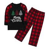 Pijamas Familiares Iguales, Pijamas de Navidad Familia Conjunto, Pijama Hombre Divertido Mujer Niño Bebe Baratos Ropa de Dormir Invierno Top+Pantalones Ropa de Dormir