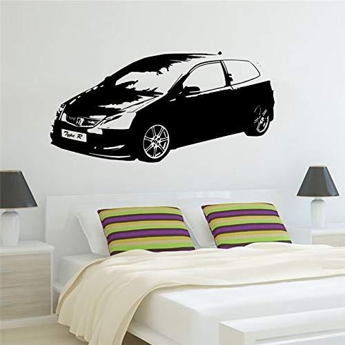 sanzangtang Grote auto burger sportwagen klassieke slaapkamer muur kunst sticker decoratie spel vinyl film kinderkamer jongen levende muurschildering
