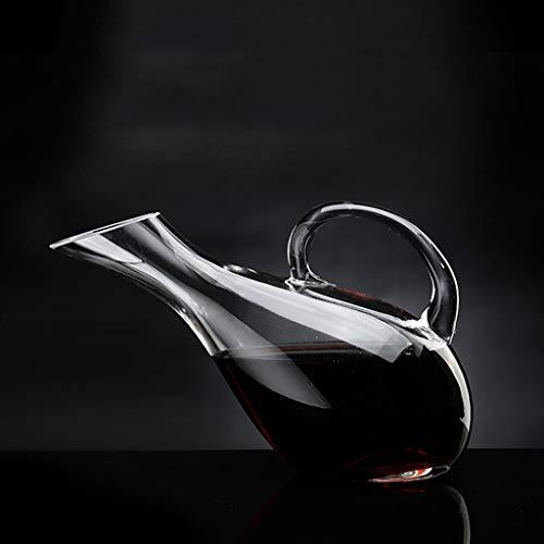 Zcxbhd Schwan Hohe Kapazität Dekanter Rotwein Bleifreies Kristallglas Mit Griff Weinkrug Der Jug 2000 ML (größe : A)