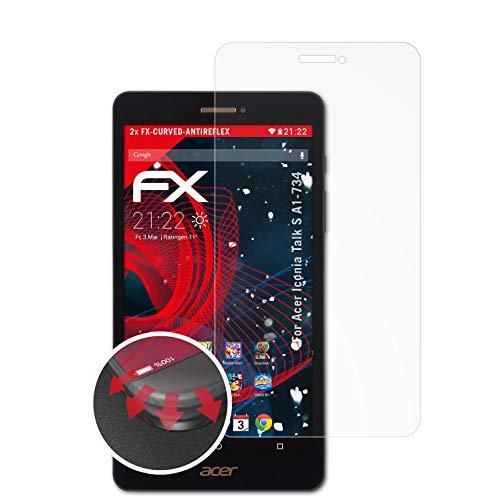 atFolix Schutzfolie kompatibel mit Acer Iconia Talk S A1-734 Folie, entspiegelnde & Flexible FX Bildschirmschutzfolie (2X)