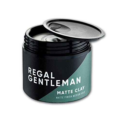 Regal Gentleman Matte Clay (2.53 fl oz) Matte Finish Medium Hold - Hair Wax For Men - Mens Natural Hair Styling Clay For All Hair Types