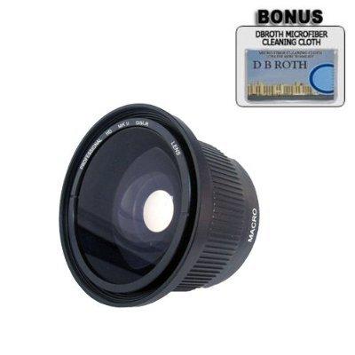 .42x HD Super Wide Angle Panoramic Macro Fisheye Lens for The JVC Everio GZ-MG680, MG670, MG630, MG465, MG435, MG365, MG360, MG335, MG330, MG230 High Definition Camcorders by DB ROTH