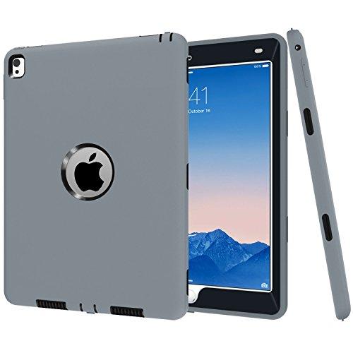 iPad Pro 9.7caso di Betty [full-body Heavy Duty antiurto] 360° di plastica dura copertura, High Impact Resistant Armor Defender custodia per iPad Pro 24,6cm 2016 Gray Black