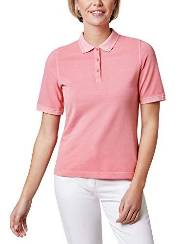Walbusch Damen Pique Polo Miami einfarbig Koralle 48