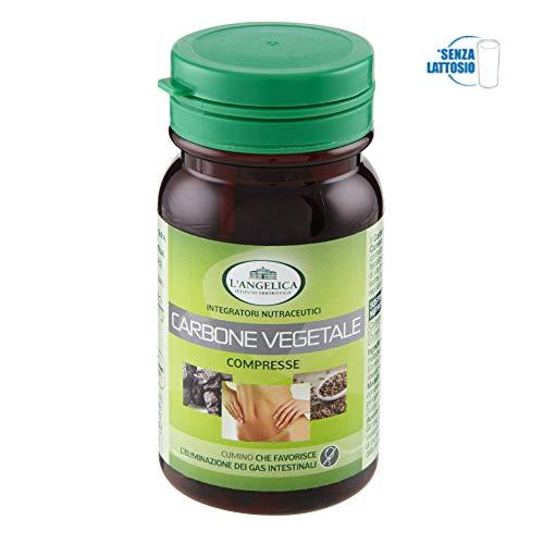 L'Angelica Carbone Vegetale, 75 compresse, Totale: 45 gr - [pacco da 3]
