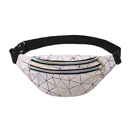 RUNYN Mode Hüfttasche Ledernaht Muster Unisexe Diagonal Tasche Hüfttasche Strandtasche Brusttasche