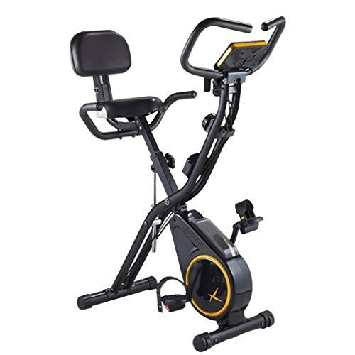 Ejercicio Bicicleta Giratoria Plegable para Interiores Equipo Aeróbico para El Hogar Bicicleta Resistencia Ajustable Resistencia De 12 Niveles (Color : Black, Size : 112x53x95cm)