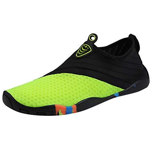 AIni Zapatos De Agua para Hombres Zapatos De Mujer para Bucear Buceo Surf Piscina Playa Vela Mar RíO Aqua Ciclismo Deportes AcuáTicos NatacióN Calzado Deportivo Zapatos De Ciclismo Azul Verde 35-45