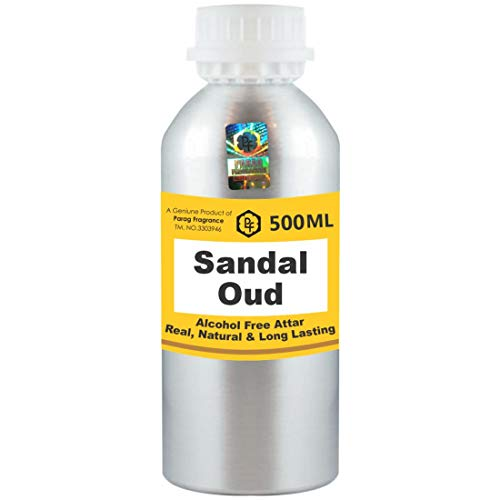 Parag Fragrances Sandal Oud Attar Lot de 500 ml (sans alcool, longue durée pour homme, femme et usage religieux) Meilleur Attar du monde | Itra | Huile parfumée | Parfum