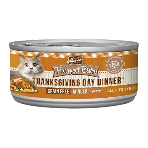 Merrick Purrfect Bistro Grain Free, 5.5 oz, Thanksgiving Day Dinner - Pack of 24