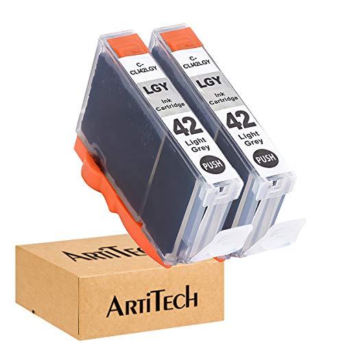 ArtiTech CLI-42 LGY Pixma Pro-100 Compatible Ink Cartridges Replacement for Canon CLI42 CLI-42 Light Gray Ink Cartridge Work for Pixma Pro-100S Printers,2 Pack CLI-42 LGY