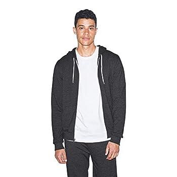 American Apparel Men s Tri-Blend Terry Long Sleeve Zip Hoodie tri-black X-Large