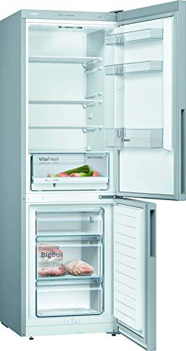 Bosch KGV362LEA Serie 4 - Refrigerador (A++, 186 cm, 226 kWh/año, aspecto inoxidable, 214 L, congelador de 94 L, LowFrost, VitaFresh)