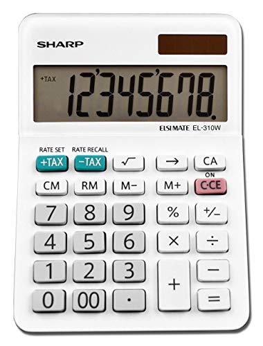 Sharp EL-310WB Calculator, White 3.125 (Renewed)