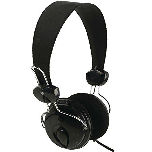 Eurosell Leichter DJ Design Kopfhörer für MP3 / Smartphone/Fernseher - On Ear - Stereo - Kopfbügel - 3,5mm Klinkenstecker schwarz