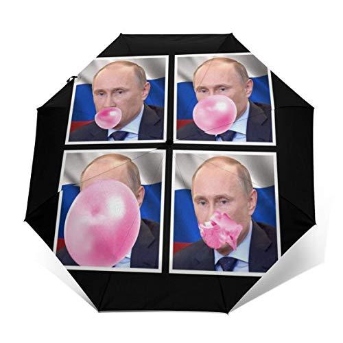 Vladimir Putin Regenschirm, Winddicht, kompakt, automatisch, faltbar, faltbar, Reise-Sonnenschirm