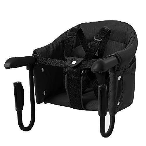 Folding Baby Hook On Seat for Home and Travel,Black Portable Clip on Table...