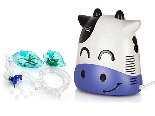 SisiBaby - Nebulizador compresor con el nebulizador de inhalación (Vaquita blanca)