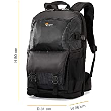 """Lowepro Fastpack BP 250 AW II - A Travel-Ready Backpack for DSLR and 15"""" Laptop and Tablet"""