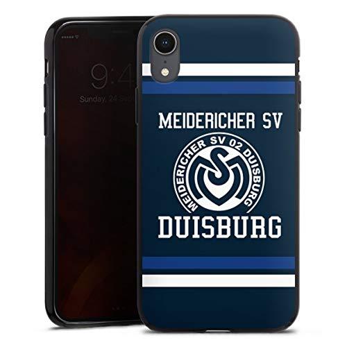 Silikon Hülle kompatibel mit Apple iPhone Xr Hülle schwarz Handyhülle MSV Duisburg B&esliga Offizielles Lizenzprodukt