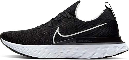 Nike Men's React Infinity Run FK Running Shoe Black/White/Dark Grey 10