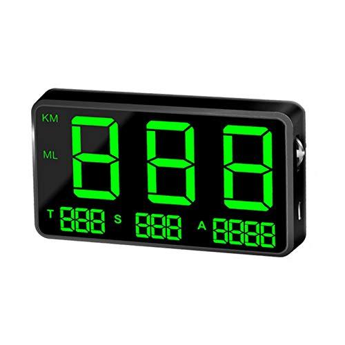 GPS Tachometer Geschwindigkeitsmesser Auto, C80 Digitales GPS-Tachometer-Display C80P Mit MPH / KMH-Geschwindigkeitsalarm Ermüdungs-Fahralarm 4,5-Zoll-LED-Bildschirm Für Alle Autos Fahrrad Motorrad