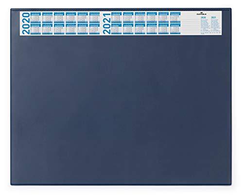 Durable 720407 Schreibunterlage (mit Vollsichtplatte und Kalender, 650 x 520 mm) 1 Stück dunkelblau