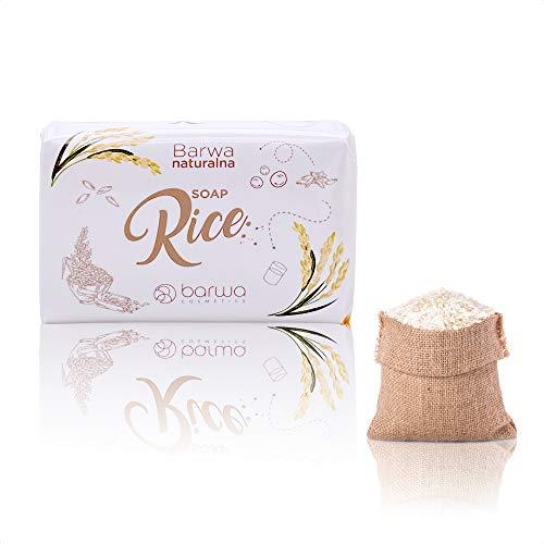 Savon solide 100g au lait de riz – un savon main/savon corps alliant huile vegetale et glycerine vegetale – A base de glycerine vegetale, il nourrit et hydrate peau sensible et peau grasse