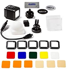 KIT INCLUDES 3 PRODUCTS -- All BRAND NEW Items with all Manufacturer-supplied Accessories: [1] LitraTorch 2.0 Waterproof Dimmable 16-LED Video Light [2] LITRA LitraTorch 2.0 Filter Set [3] JZS Camera & Electronics Professional Microfiber Cleaning Clo...