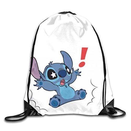 Etryrt Star Eyes Stitch Sacs à Cordon Sac à Dos Print Shoulder Bags Sackpack Sport Gym Backpack Storage Bag