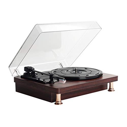 YUUY Reproductor de grabación Turntable Reproducción Gramófono Retro Reproductor de grabación 35 45 78 Velocidad Bluetooth Reproducción Turntable de reproducción (Size : 30cm*25cm)