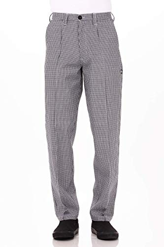 Chef Works Men's Basic Chef Pant, Small Check, 34