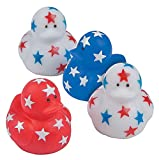 4E's Novelty Patriotic Mini Rubber Ducks (24 Pack) Bulk 1.5' - Memorial Day Party Favors & Supplies, 4th of July Party Favors, Patriotic Party Supplies Gifts for Kids Adults Fourth of July