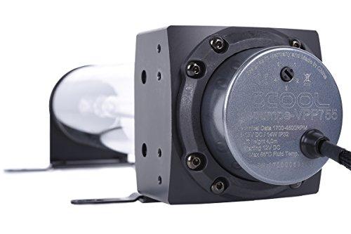 Alphacool 13308 Eisbecher D5 250mm Acetal inkl. 1x Eispumpe VPP755 V.3 Wasserkühlung Pumpen