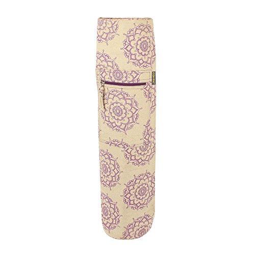 Yoga-mad Jute Cotton Patterned Mat Bolsa de Yoga, Unisex, Multicolor, 63 x 14.5 cm