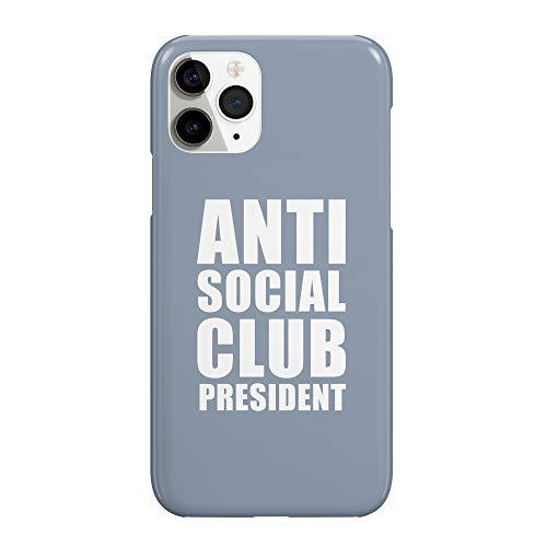 Anti Social Club President Quote_MRZ2125 - Funda protectora de plástico duro para teléfono inteligente