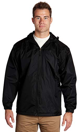 4XL / 4XLT Zip Up Jackets Hoodies for Men Big and Tall | Extra Large Windbreaker Men Jacket with Hood | Mens Softshell Wind Breaker Water Resistant Jacket | 4XL Black Zipper Hoodie Men (Black, 4XL) - éb79