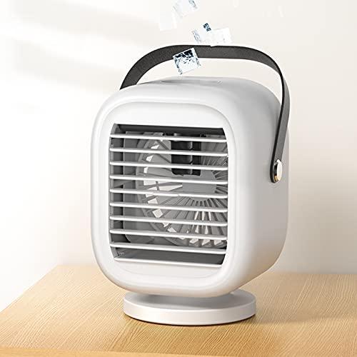 Oscilación del ventilador de refrigerador de aire portátil con 3 velocidades del viento, aire acondicionado personal Mini refrigerador de aire con agua, refrigerador de aire evaporativo pequeño 2000mA