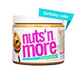 Nuts 'N More Birthday Cake Peanut Butter Spread, All Natural High Protein Nut Butter Healthy Snack, Omega 3's and Antioxidants, Low Carb, Low Sugar, Gluten Free, Non GMO, Preservative Free, 16 oz Jar