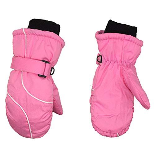 Suszian Kinder Skihandschuhe, 1 Paar Kinder Skihandschuhe Mädchen Jungen Warme Winterhandschuhe Im Freien wasserdichte Handschuhe für Ski-, Schneeball-, Eislauf- und Wintersportarten im Freien
