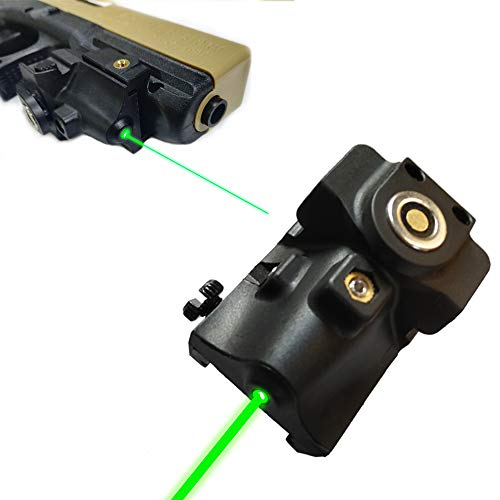 Tactical Green Laser Sight, Compact Laser Sight Fit Standard Picatinny Rail Gun Low Profile Pistol Magnetic Charging Green Laser