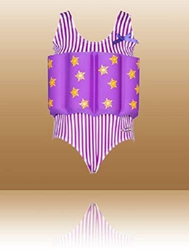 Beverly Kinder Schwimmender Badeanzug für Mädchen, Mädchen, violett, 98 cm