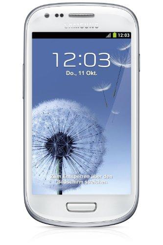 Samsung Galaxy S3 mini I8190 Smartphone (10,2 cm (4 Zoll) AMOLED Display, Dual-Core, 1GHz, 1GB RAM, 5 Megapixel Kamera, Android 4.1) marble-white